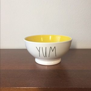 Rae Dunn Yum Yellow Interior Bowl